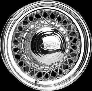 Wheel Vintiques 73 Series Street Rod Wire Chrome Wheel 15x8 5x4.5