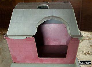 BRIK HAUZ MEDIUM PET DOG HOUSE PLASTIC CAT DUCK Barn Style Shelter