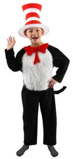Cat In The Hat Dr. Seuss Costume Kit CHILD Kids 4 6 8 10