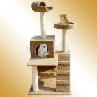 60 Brown Cat Tree House 86 Condo Scratcher Furniture