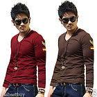 New Men Man Casual TEE Shirt Muscle Male Top Long Sleeve Tunic Blouse