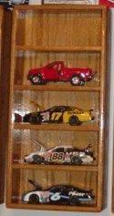 nascar solid oak 1/24th 5 car tower display case shelf showcase