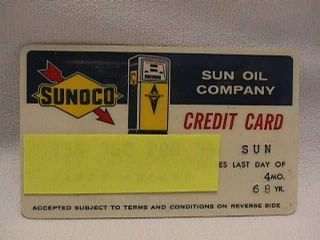1968 Sunoco Sun Oil Company Credit Card
