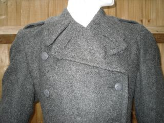 Genuine Danish Army Wool Jacket / Raincoat / Trenchcoat / Overcoat All