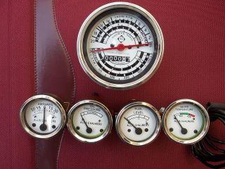 Allis Chalmers Tachometeter+Temp+ Oil Pr+ Fuel+Amp Gauge Set D14, D15