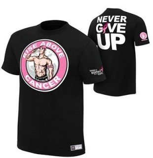 John Cena Rise Above Cancer Mens Authentic WWE Shirt Sz Large Ships