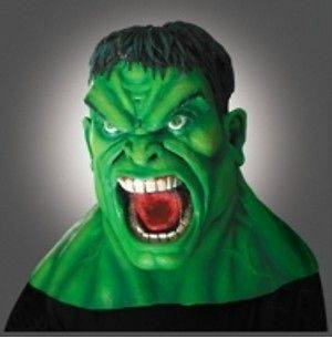 THE INCREDIBLE HULK FULL OVER THE HEAD LATEX MASK LICENSED 2107