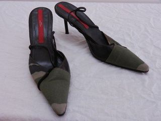 Womens EU 5.5 US 8 JET SET PARIS Camo Slingback Stiletto High Heels
