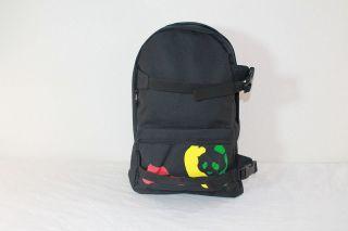 NWT ENJOI RASTA PANDA BLACK GRAPHIC SKATE / TRAVEL / BOOK BACKPACK