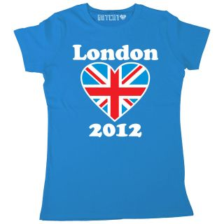 WOMENS 2012 GREAT BRITAIN UNION JACK SUPPORTERS T SHIRT LONDON GAMES