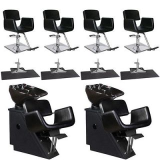 Beauty Salon Equipment Styling Chair Mat Shampoo Backwash Unit