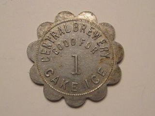 CENTRAL BREWERY GOOD FOR 1 CAKE ICE BEER BREWERY ALCOHOL TOKEN