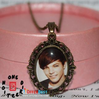 direction Louis Tomlinson image Charm Epoxy Necklace Music stars DX1