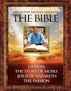 Charlton Heston Presents the Bible DVD, 2011, 4 Disc Set