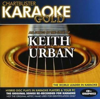 Keith Urban Greatest Hits on Chartbuster Karaoke Gold KGR 13015 CDG