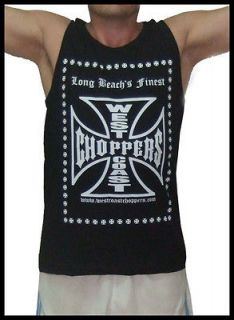 West Coast Choppers Biker Tank Top Vest Singlet Tee T Shirt T Shirts