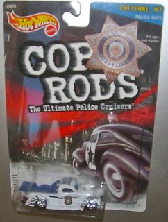 HOT WHEELS CUSTOM 1940 FORD TRUCK CHEYENNE WY. POLICE DEPT. FROM COP