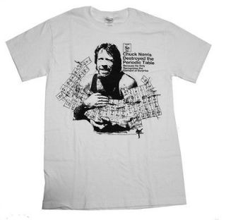 Chuck Norris Destroyed The Periodic Table T Shirt Tee
