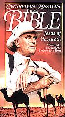 Charlton Heston Presents the Bible   Jesus of Nazareth VHS, 1995, Clam