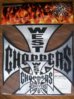 Jesse James Die Cut West Coast Choppers Stickers NEW