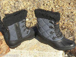 New Womens UGG Newberry Black/Navy Snow Winter Rain Duck Sheepskin
