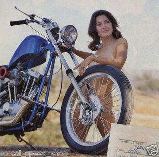 STREET CHOPPER MAGAZINE DEC JAN MOTORCYCLE BOBBER BIKE PIN UP TRIUMPH