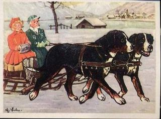 GREATER SWISS MOUNTAIN DOG GERMAN COLLECTIBLE CARD 1952