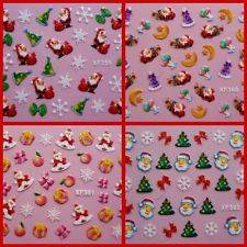 CHRISTMAS 3D NAIL DESIGNS /ART/STICKERS 23 DESIGNS IDEAL XMAS GIFTS
