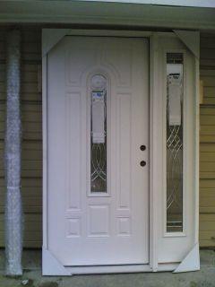 Fiberglass Exterior Door 2 Sidelight Entry Oak Pella