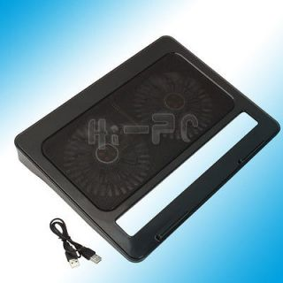 17 inch Notebook Laptop Cooling Cooler Pad Stand With 2 Fan 2 Port USB