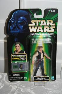 Star Wars POTF Han Solo Comm Tech Chip With Blaster Pistol & Holster