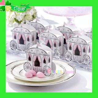 "50X CinderellaEnchanted Carriage""Wedding Favor Sweet Party Boxes"