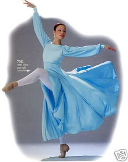 SKY BLUE Liturgical Praise Church Dance Dress 230 A 5 6