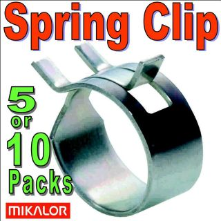 Metal Steel SPRING BAND TYPE Fuel Line Hose Clips Silicone Pipe Clamps