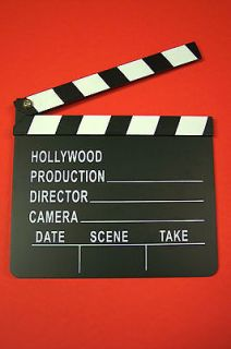 MOVIE CLAPPER CLAPBOARD CINEMA SLATE PROP DIRECTOR HOLLYWOOD FILM GAG