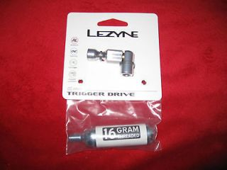 Lezyne Trigger Drive CO2 Tire Inflator with 16g Cartridge