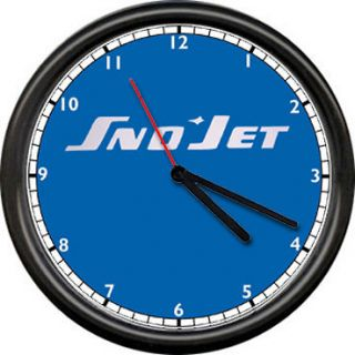 Sno Jet Logo Snowmobile Racing Dealer Retro Vintage Sign Wall Clock