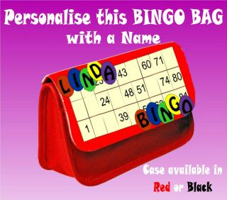 Personalised Bingo Pen Carry Bag / Clutch Bag / Ideal for Daubers and