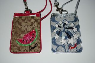 COACH BADGE ID HOLDER LANYARD in Womens Accessories