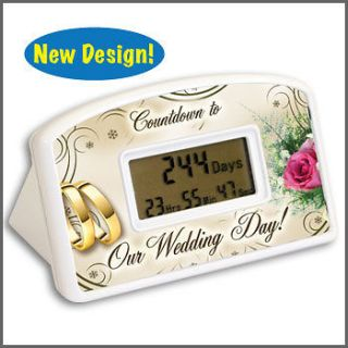 DAY COUNTDOWN TIMER Clock Bridal Shower Party Favors Bachelorette
