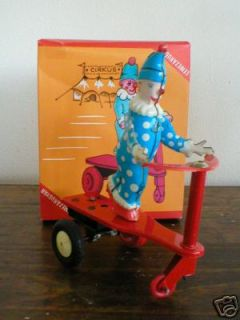 ANTIQUE ROLI ZOLI CIRKUS CLOWN SCOOTER W/MOVABLE WHEEL