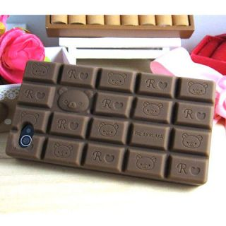 Bear Love Chocolate Color Soft Rubber Skin Case Cover Fr iphone4 4S 4G