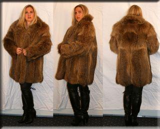 TANUKI RACCOON Fur Hat w/TAIL FOR MEN & WOMEN *NEW* MED.