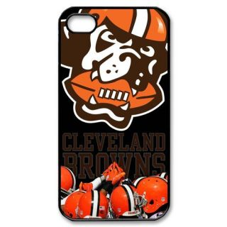 cleveland browns iPhone 4 or 4S Hard Plastic Black Case Cover 08096