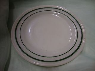 Anchor Hocking Anchor Ware Green Double Stripe Restaurant 5 1/2 Plate