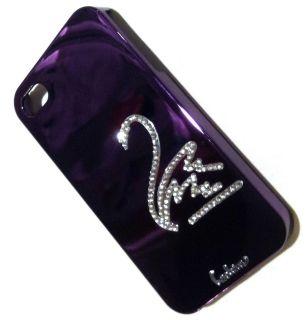 Leshine DreamPlus Purple Swan Bling Diamond Cover Case iPhone 4G 4GS