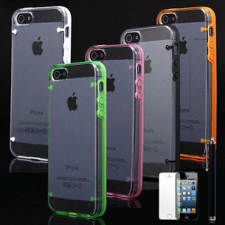 Transparent Clear Ultra Thin Snap On PC Hard Case Cover For iPhone 5