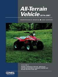 Clymer Shop Repair Manual Yamaha YFM225 1974 1987