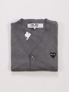 Comme des Garcons Play CDG Gray Cardigan Black Heart For Men