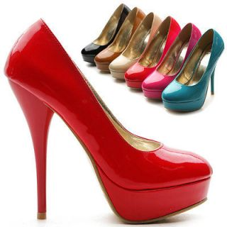 ollio Womens Shoes Platforms Classic High Heels Pumps Stiletto Multi